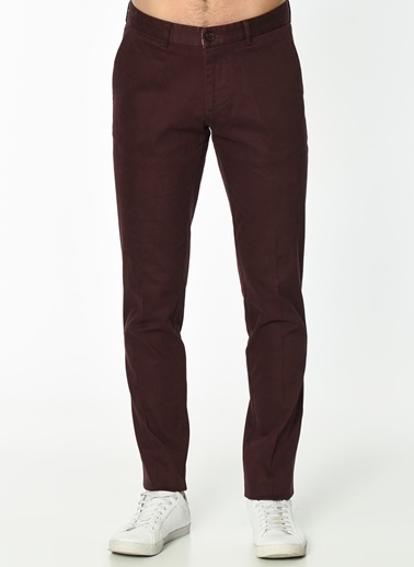 Beymen Business Slim Fit Kanvas Pantolon Bordo